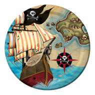 Plates-BEV-Pirate's Map-8pkg-Paper