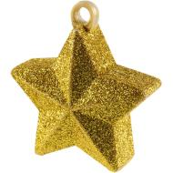 Balloon Weight-Glitter Star-Gold-6oz
