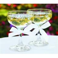 Champagne Glasses-Bride&Groom