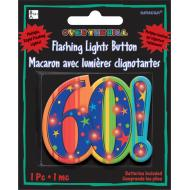 Flashing Button-60th Bday-2.25''
