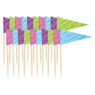 Flag Picks-Multicoloured- 20pk