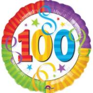 Foil Balloon - 100th Birthday Streamers - 18""