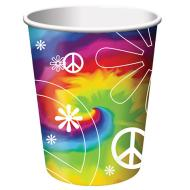 Paper Cups-Tie Dye Fun-8pkg-9oz - Discontinued