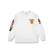 Badges L/S Tee/White
