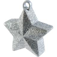 Balloon Weight-Glitter Star-Silver-6oz