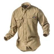 011202-XL/Tall TAN LIGHTWEIGHT TECGEN 5.5OZ DRESS SHIRT
