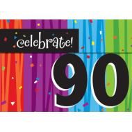 Invitations-Milestone Celebrations 90th-8pkg