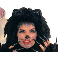 Costume Accessory-Black Animal Wiskers-1pkg