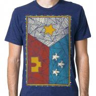 Patchwork Acadian Flag Mens Tee