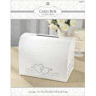 Card Holder Box-Silver& White-Paper w/Glitter-12'' x 15'' x 10''