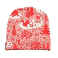 Baby Hat - Winter Forest Red