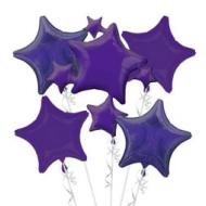 Balloon Bouquet - Purple Star Balloon - 1pk -5 balloons