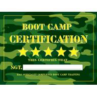 Party Favors-Army Camouflage Certificates-12pkg