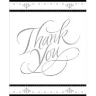Thank You Cards-Stafford Silver-8pk