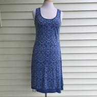 Side Sinch Tank Dress Blue