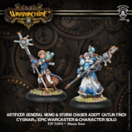 Warmachine: Cygnar - Artificer General Nemo w/Adept