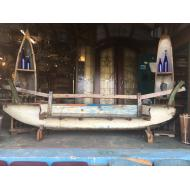 Teak Boat Hull Full Sofa