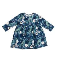 Geneva Baby Dress - Wildflowers Navy & Mint