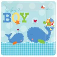 Plates DN-Ahoy Baby-8pk-Paper - Discontinued