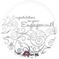 Foil Balloon - Congratulations on Your Engagement - 18""