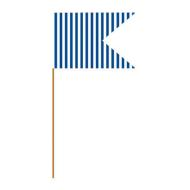 Flag Picks-Striped Blue-24pkg-3""