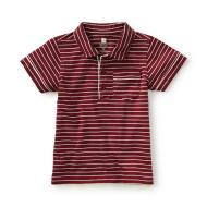 Sapienza Striped Polo Rojo