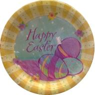 Paper Dinner Plates- Happy Easter- 8pk/10.5""