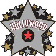Cutout -Star -Hollywood-15''
