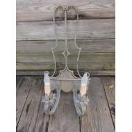 Iron Double Candleabra Wall Sconce
