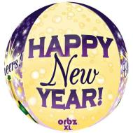 Foil Balloon-Happy New Year Orbz 16""