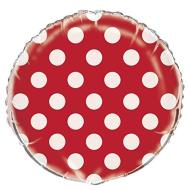 Foil Balloons - Dots Ruby - Red - 18""