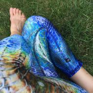 Blue Meditation Capri Legging