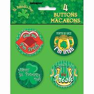 Buttons- St. Patrick's Day- 4pk