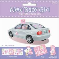 Car Decor Kit-New Baby Girl-12pk
