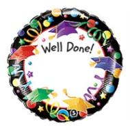 Foil Balloon - Well Done Graduate - 18""