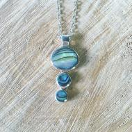 Abalone triple necklace