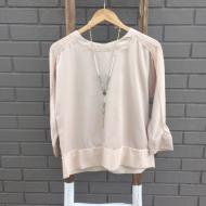 Sheer Woven Blouse Nude