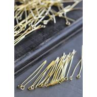 Gold Eye Pins - 100/pk