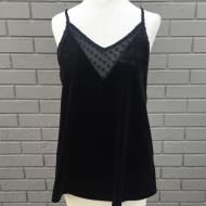 Black Velvet Swiss Dot Cami