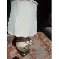 Small Painted Asian Floral Lamp