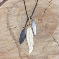 Silver Seasons feather necklace