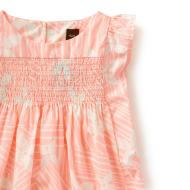 Vimercati Smocked Dress Neon Rose