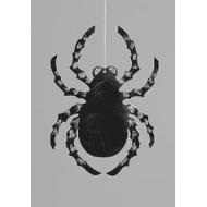 Decoration-Hanging Glitter Spider-1pkg-14""