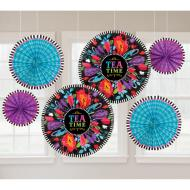 Decorative Fans - Mad Tea Party