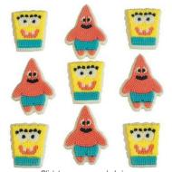 Icing Decorations-Spongebob & Patrick-9pcs-42g