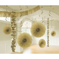 Foil and Paper Decorations Kit - Gold