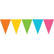 Banner-Paper Pennant-Multi Color-24pk/7'' x 6''