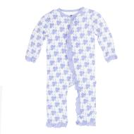 Forget Me Not Floral Ruffle Coverall