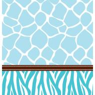 Tablecover-Rectangle-Wild Safari Blue-Plastic