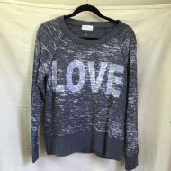 Pale Grey Love Sweatshirt
